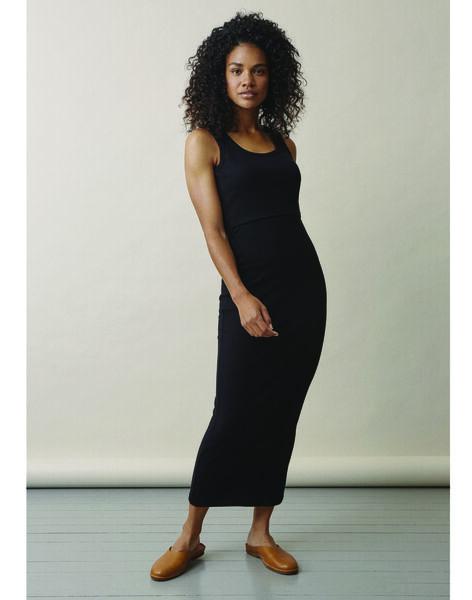 Robe de grossesse & allaitement coton bio Boob noire BOSIGNE SLEEVEL / PTXW2612N18090