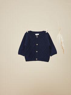 Gilet tricot bleu garçon  VAGUE 19 / 19IV2313N12C225