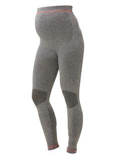 Legging en maille Noos Mamalicious gris chiné NOOS MLFIT LEGG / PTXW2611N3A943