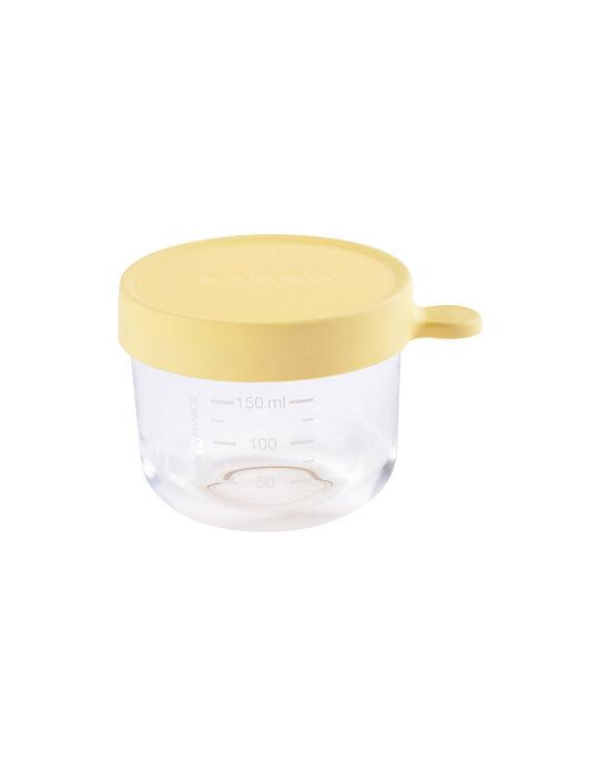 Pot de conservation en verre Béaba jaune 150 mL dès 4 mois PORTION 150 JAU / 19PRR2003VAI010