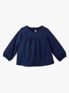 Tee-shirt fille marine en coton pima AELLYNE 20 / 20VU1911N0F070