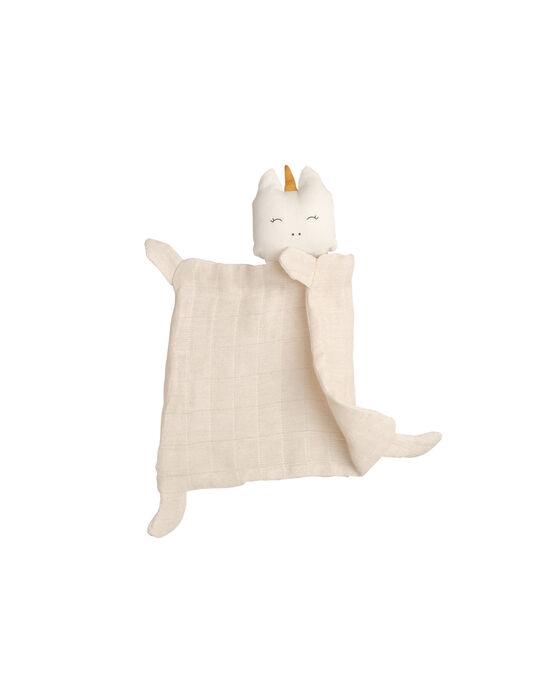 Doudou plat licorne bio Fabelab beige 0-3 ans DD PLAT LICORNE / 19PJPE005PPE999