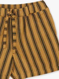 Short garçon rayé couleur bronze  CHUCK 21 / 21VU2021N01900