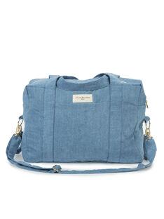 Sac à langer en coton recyclé Darcy Rive Droite bleu clair 33x42x20 cm SCC DARCY DENIM / 19PBDP006SCC704