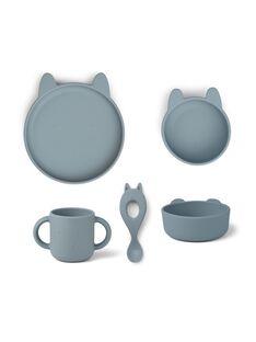 Set de repas en silicone vivi lapin sea blue SET VIVI LAP BL / 21PRR2009CREC218