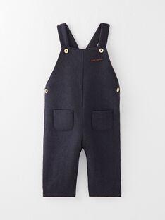 Salopette longue en lainage marine garçon  BOWI 20 / 20IU2082N05070