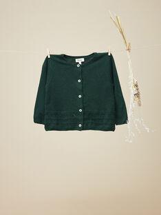 Cardigan tricot vert fille  VEDALONY 19 / 19IU1921N11631