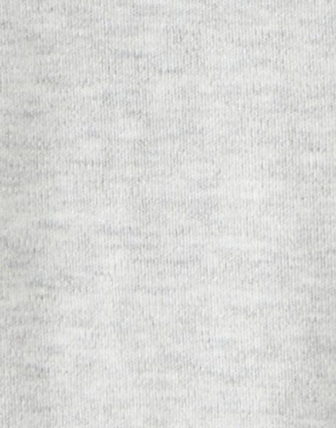 Body uni brodé manche longue gris chiné garc¸on  BARIO 20 / 20IU2054N67943