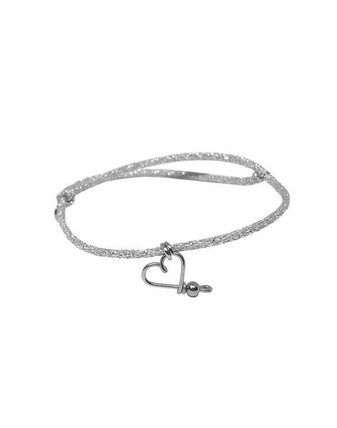 """Bracelet """"Mon cœur"""" Padam Padam à paillettes argent massif 1,5x6,5x5 cm COEUR ARGENT AR / 19PCTE009BIJ999"""