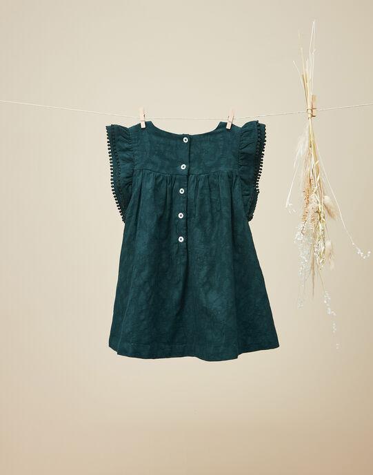 Robe manches courtes vert émeraude fille  VICKLY 19 / 19IU1934N18608