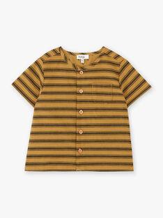 Chemise manches courtes garçon rayée couleur bronze  CORNELIUS 21