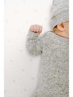 Coffret combinaison à nouer + Bonnet heather grey 0-3 mois COFFRET H GREY / 20PCTE002ATEJ920