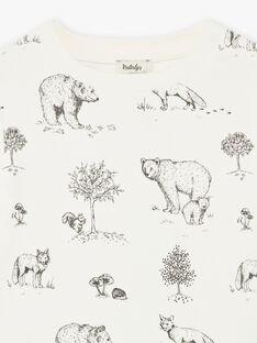 Tee-shirt imprimé ours coton biologique DAWSON 468 21 / 21I129212N0F806