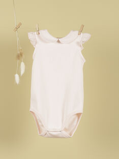 Body col rond et volants rose tendre fille TUILERIES 19 / 19VV2272N29307