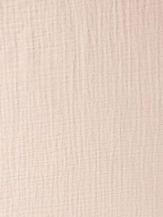 Housse de matelas à langer rose gaze de coton fille  KORALIE-EL / PTXQ6212N75030