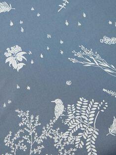 Drap housse bleu horizon en popeline de coton 140X70 fille  RUBEN-EL / PTXQ6418N58216