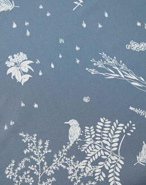 Drap housse bleu horizon en popeline de coton 140X70 RUBEN-EL / PTXQ6418N58216