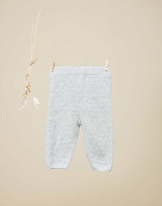 Legging en tricot gris chiné clair fille  VIOLETTE 19 / 19IU1932N3AJ920