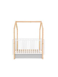 Lit bébé Clair de lune Natalys blanc 144/163,6x79,5x86,5 cm (0-10 ans) LIT CL DE LU / 18PCMB003LBB999