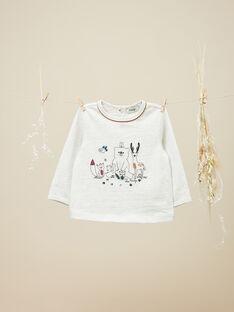 Tee-shirt manches longues naturel chiné garçon  VLAD 19 / 19IU2032N0FA010