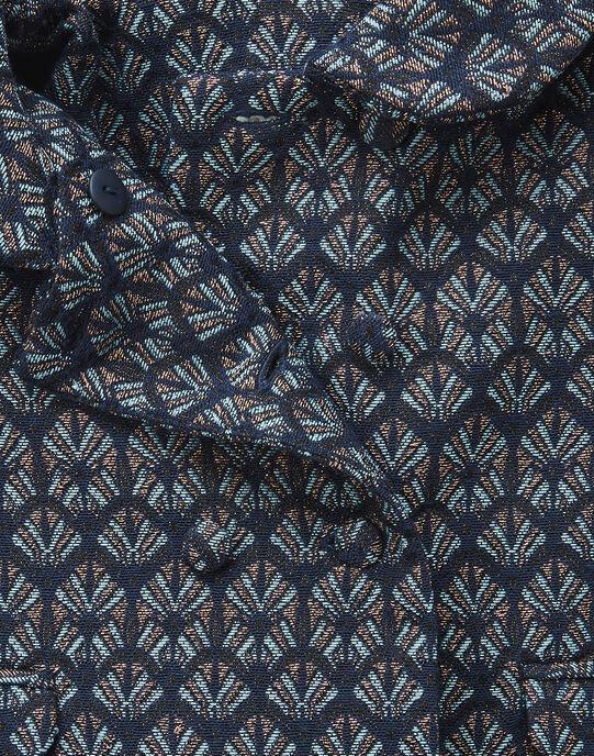 Manteau à col en jacquard avec lurex fille VAMENTO 19 / 19IU1932N16099