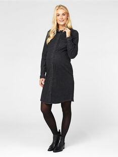 Robe de grossesse Mamalicious jean noir MLDENVER / 20VW2649N18K003