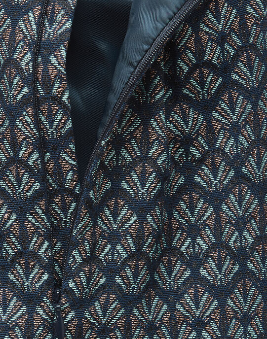 Robe chasuble en jacquard avec lurex fille VALENTINE 19 / 19IU1921N18099