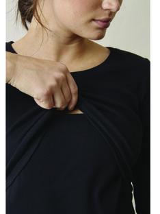 Robe de grossesse & allaitement coton bio Signe Boob noire BOSIGNE M34 / 20VW2647N18090
