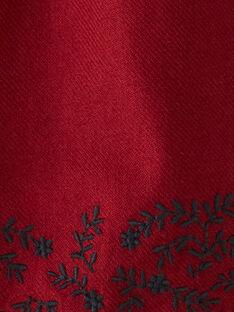 Robe fille couleur raisin avec motif frise brodée  BARBA 20 / 20IU1982N18711