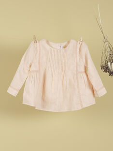 Blouse brodée rose fille THERESE 19 / 19VU1931N09D300