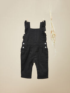 Salopette longue en lainage noir avec lurex fille VIVIA 19 / 19IU1931N05090