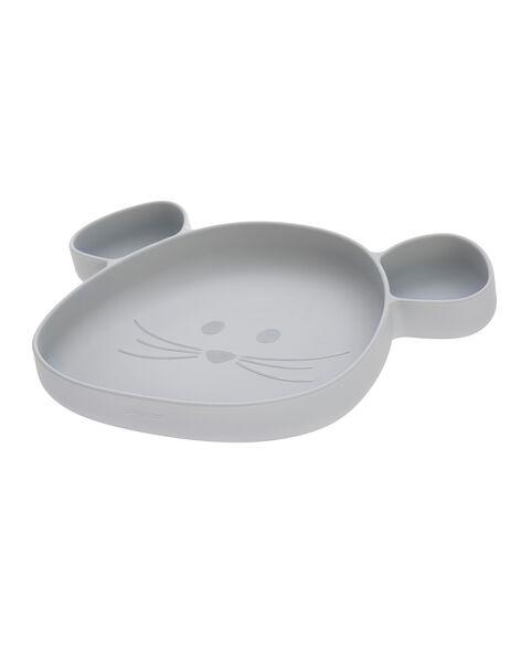 Assiette silicone compartiments souris gris AS7 SOURIS GRIS / 20PRR2012VAI940
