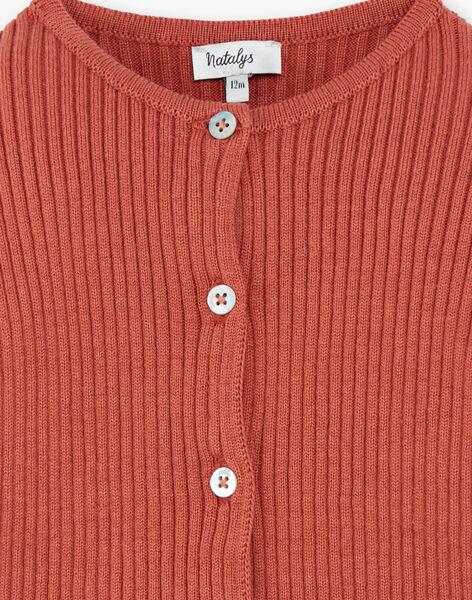 Cardigan fille côte plate coton   CAROLINE 21 / 21VU1912N11E415