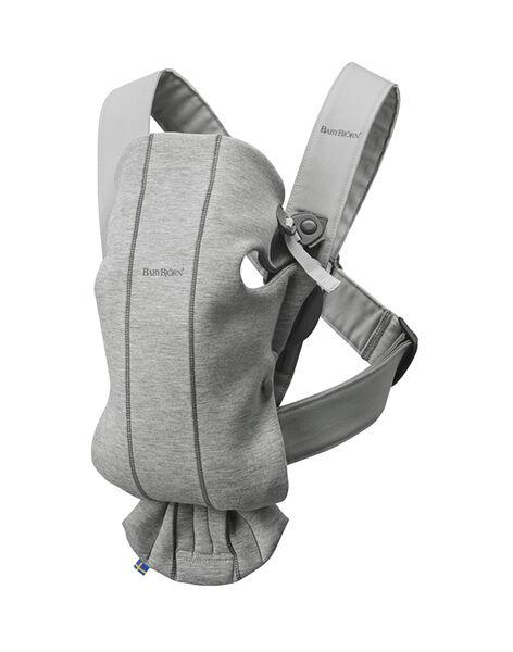 Porte-bébé Mini BabyBjörn en jersey gris clair  PBB MINI GRIS / 18PBDP009PBBJ906