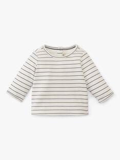 Tee shirt manche longue à rayure vanille garçon  AARON 20 / 20VV2311N0F114