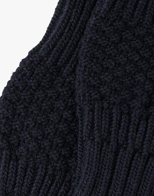 Chaussette mixte ardoise en tricot AUJULE 20 / 20PV7015N47J900