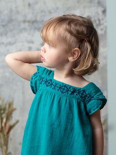 Robe brodée vert émeraude fille TEA 19 / 19VU1933N18608