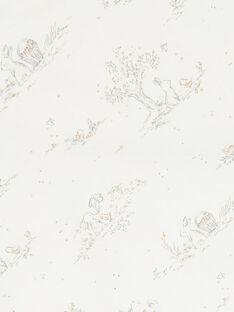 Cape de bain vanille et imprimé mixte TABEPONGE 19 / 19PV5921N73114