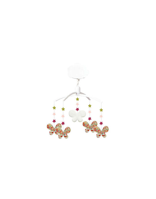 Mobile musical papillons Liberty Trousselier rose 41x25x8 cm MOBILE PAPILLON / 17PJJO002MOB999