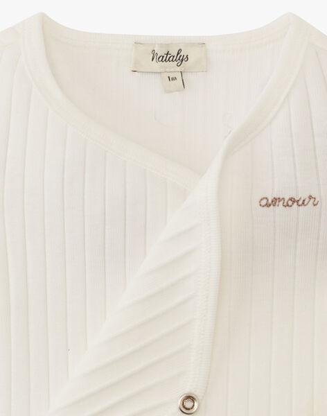 Body mixte vanille en côtes coton pima AQUILI 20 / 20PV2413N2D114