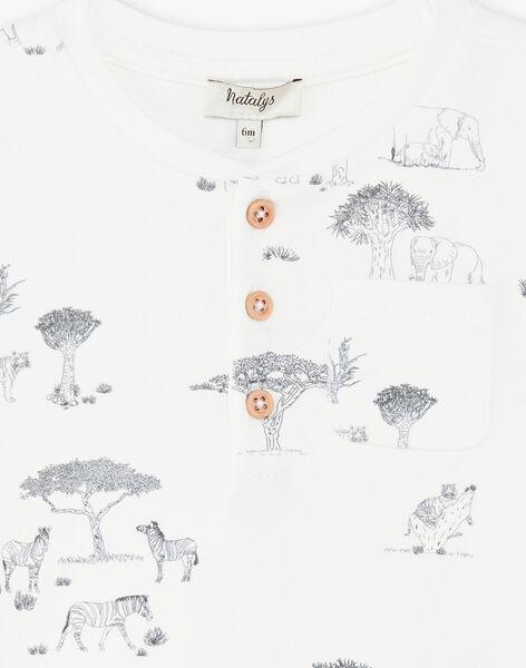 Tee-shirt garçon manches courtes en imprimé vanille CAPLAN 21 / 21VU2011N0E114