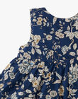 Robe chasuble et bloomer fille en imprimé floral Liberty bleu  ALONA 20 / 20VU1915N18099