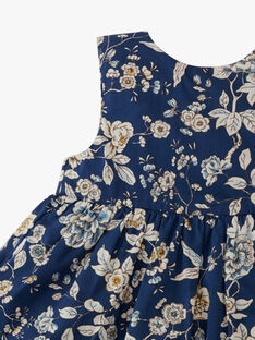 Robe chasuble et bloomer fille en imprimé floral Liberty bleu  ALONA 20 / 20VU1915N18099