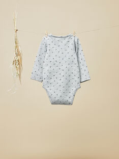 Body tee-shirt gris chiné bébé garçon  VADROUILLE 19 / 19IU2014N67114