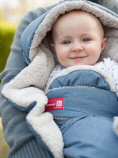 Babynomade tendresse bleu chiné T2   BBNOMAD BLEU T2 / 18PBPO013CHL222