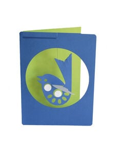 Carte Mobile Oiseau faite à la main LIVINGLY Bleue CARTE MOB OISEA / 14PCDC067DMU702
