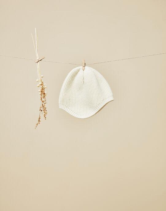 Bonnet de naissance vanille garçon VONNET 19 / 19IV6911N52114