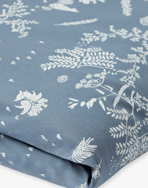 Housse de couette bleu horizon imprimée en popeline de coton mixte  RANDY-EL / PTXQ6416NA1216