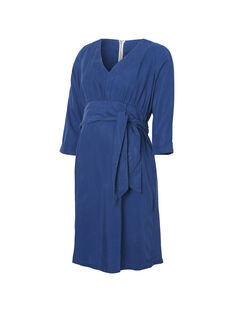 Robe bleue de grossesse MLJAZZ DRESS / 19VW2681N18705