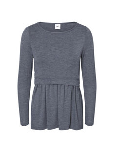 Tee Shirt Manches Longues Gris anthracite chiné MLNABEL JUNE TO / 19IW2661N0F944